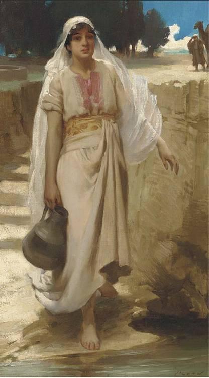 James Clark. Jeune fille allant cherchant l'eau à la source.
