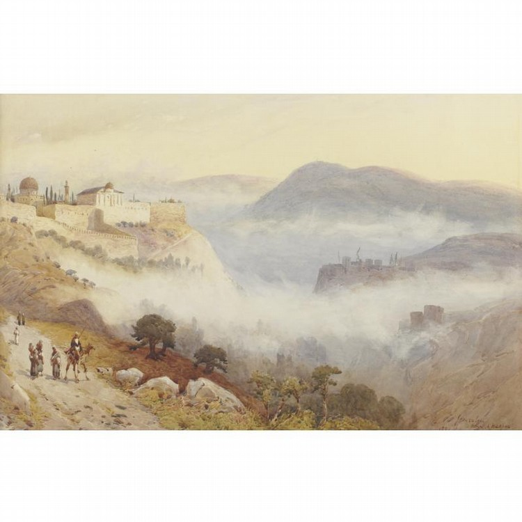 Henri Harper. Vue de Jérusalem