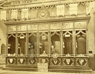 Le premier stand à Sydenham en 1862