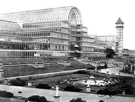 Le palais de verre à la fin du XIXe siècle