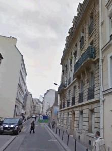 Le 4, rue Clavel aujourd'hui (photo Google map). L'étage d'habitation de la famille Salwey était au deuxième (avec un balcon)