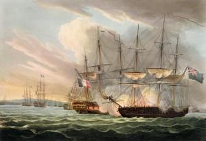 La Bataille navale d'Aix en 1809. Source Wikipedia