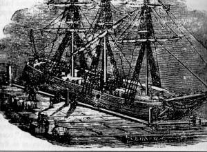 Marins convergeant vers un navire portant le fanal Béthel à New-York en 1820.