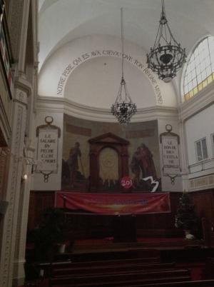 La chapelle Taitbout, à Paris. Un des plus anciens lieux de culte des Églises Évangéliques Libres. Cliché Wiki.