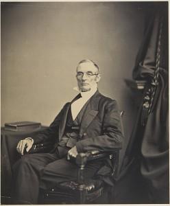 Joshua Leavitt, vers 1860. Cliché réalisé par le célèbre photographe Matthieu Brady. Source Wikipédia.