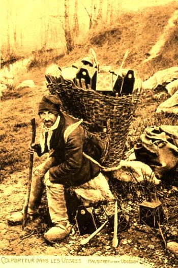 Un colporteur commercial dans les Vosges