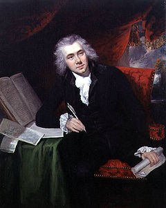 William Wilberforce, jeune député, vers 1790, par John Rising.