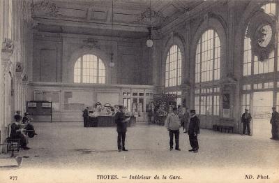 La gare de Troyes vers 1910.