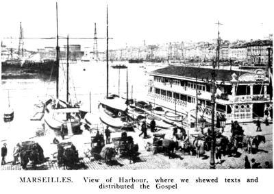 Le vieux port de Marseille en 1914 (image extraite de l'ouvrage de Joseph Dutton, An Evangelist's travels)