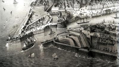 L'entrée des bassins du Havre