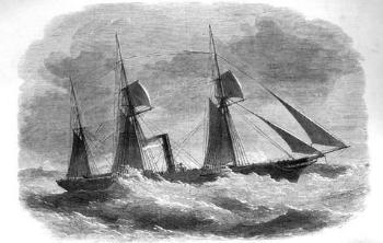 Paquebot mixte vers 1850
