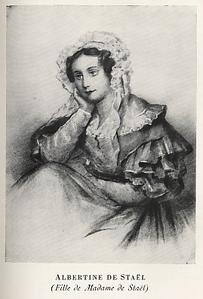 Albertine de Broglie, à l'époque où elle fonda l'Association biblique des dames de Paris (gravure).