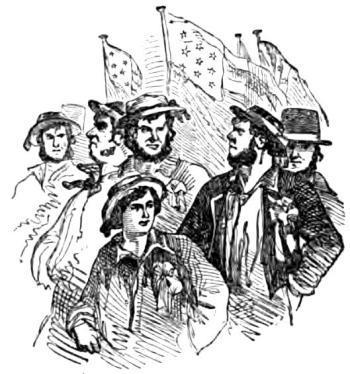 marins américains en 1858