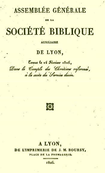Société biblique de Lyon