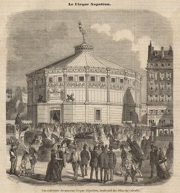 Le Cirque Napoléon vers 1860 (Wiki Commons)