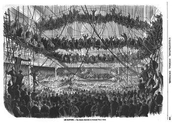 Une réunion électorale au gymnase Triat en 1869. (Source : L'illustration, 1869)